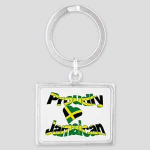 Proudly Jamaican Landscape Keychain