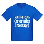 Spontaneous Conversation Encoura Kids Dark T-Shirt