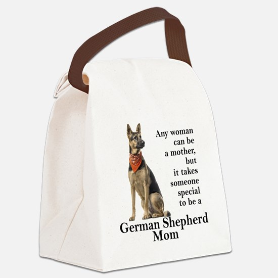 German Shepherd Mom Canvas Lunch Bag