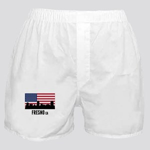 Fresno CA American Flag Boxer Shorts