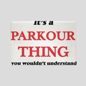 It's a Parkour thing, you wouldn't Magnets