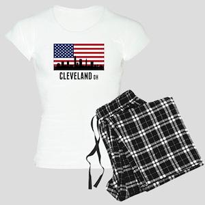 Cleveland OH American Flag Pajamas