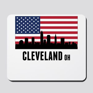 Cleveland OH American Flag Mousepad