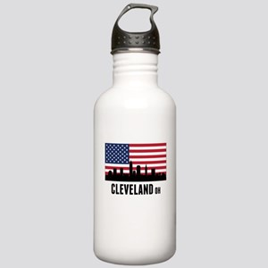 Cleveland OH American Flag Water Bottle
