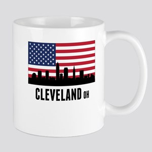 Cleveland OH American Flag Mugs