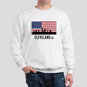 Cleveland OH American Flag Sweatshirt