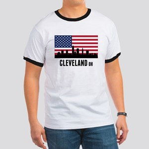 Cleveland OH American Flag T-Shirt