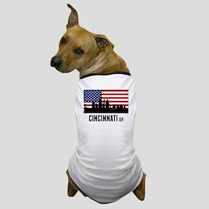 Cincinnati OH American Flag Dog T-Shirt