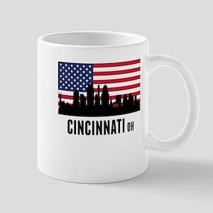Cincinnati OH American Flag Mugs