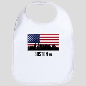 Boston MA American Flag Bib