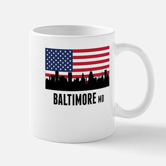 Baltimore MD American Flag Mugs