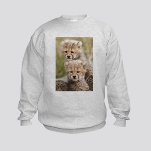 Baby Cheetahs together Sweatshirt