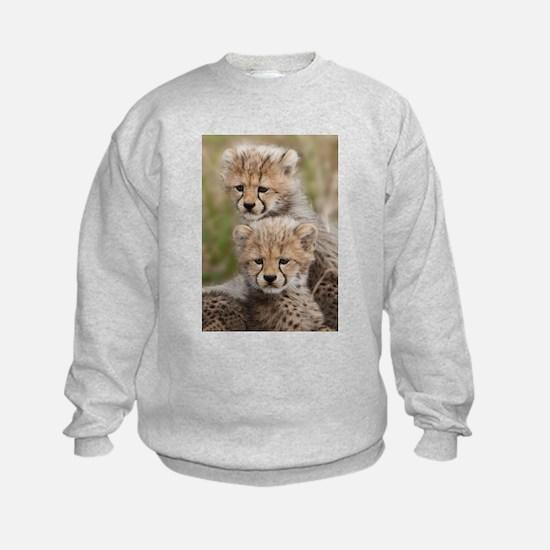 Baby Cheetahs together Sweatshirt