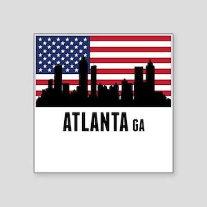 Atlanta GA American Flag Sticker