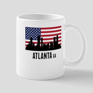 Atlanta GA American Flag Mugs