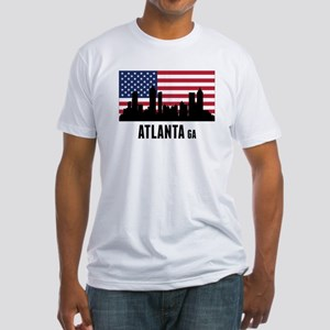 Atlanta GA American Flag T-Shirt