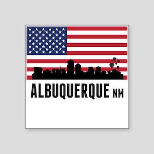 Albuquerque NM American Flag Sticker