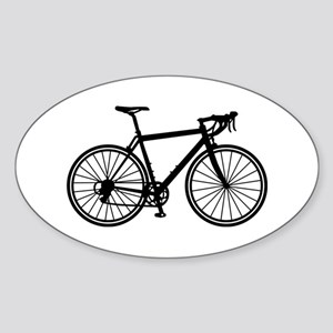 Racing bicycle Sticker (Oval)