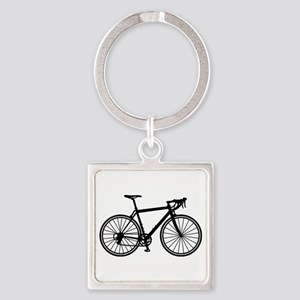 Racing bicycle Square Keychain