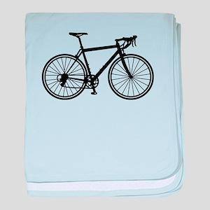 Racing bicycle baby blanket