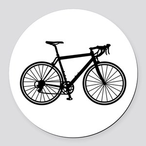 Racing bicycle Round Car Magnet