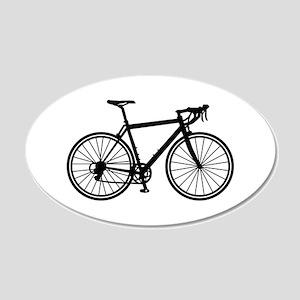 Racing bicycle 20x12 Oval Wall Decal