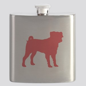 Pug Red 1C Flask