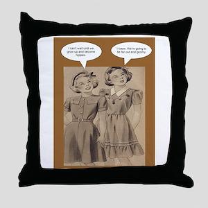 Future Hippies Throw Pillow