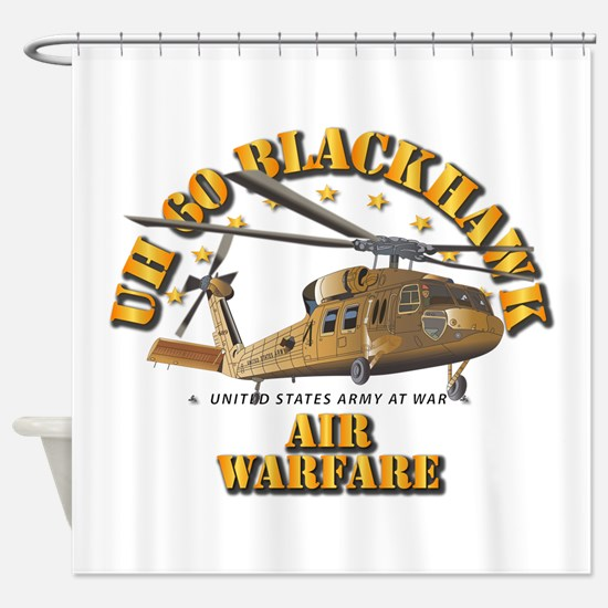 UH - 60 Blackhawk - Air Warfare Shower Curtain