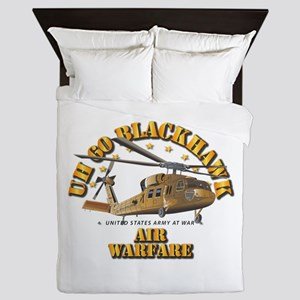 UH - 60 Blackhawk - Air Warfare Queen Duvet
