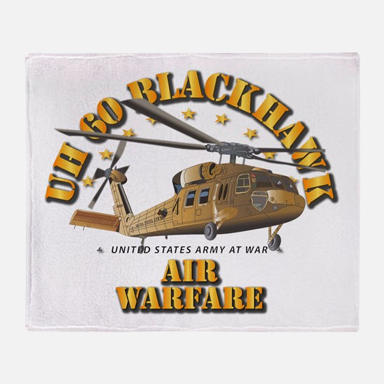 UH - 60 Blackhawk - Air Warfare Throw Blanket