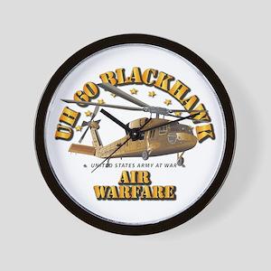 Uh - 60 Blackhawk - Air Warfare Wall Clock