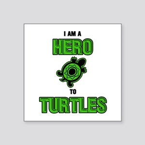 Turtle Hero Rectangle Sticker