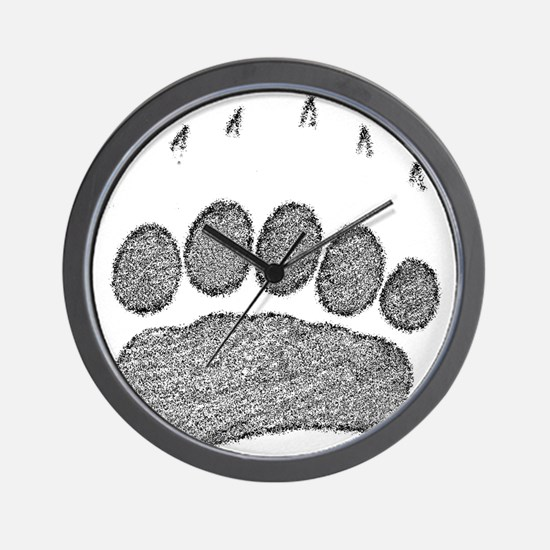 Grizzly Track Wall Clock
