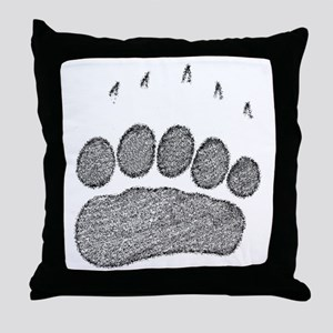 Grizzly Track Throw Pillow