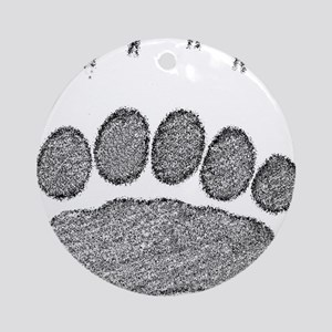 Grizzly Track Ornament (Round)