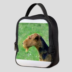 airedale terrier Neoprene Lunch Bag