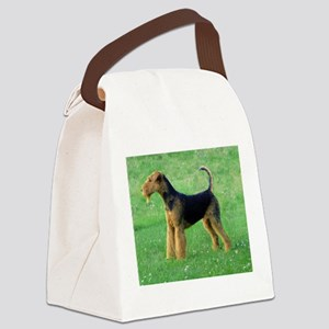 airedale terrier full Canvas Lunch Bag