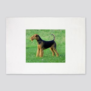 airedale terrier full 5'x7'Area Rug