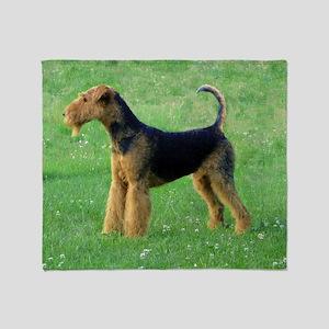 airedale terrier full Throw Blanket