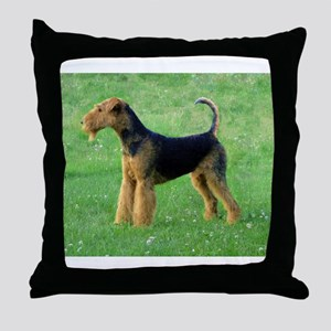 airedale terrier full Throw Pillow