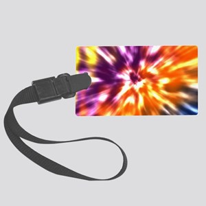 Multi Color Tie Dye Large Luggage Tag