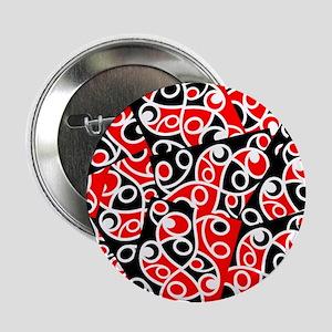 "Layered Red And Black Maori Kowhaiwha 2.25"" Button"
