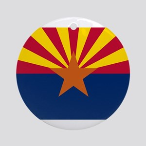 Flag of Arizona Round Ornament