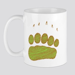 Gold Grizzly Tracks Mug