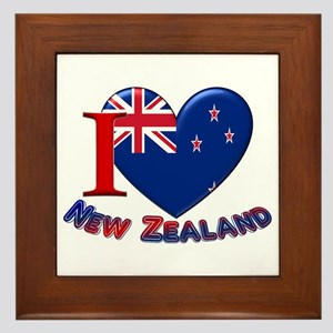 I love New Zealand Framed Tile