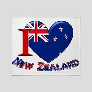 I love New Zealand Throw Blanket