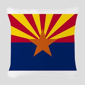 Flag of Arizona Woven Throw Pillow