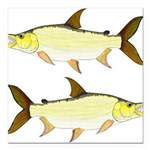 Giant Tigerfish Square Car Magnet 3