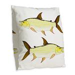 Giant Tigerfish Burlap Throw Pillow